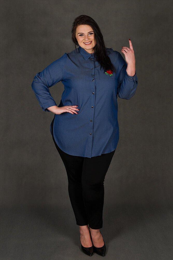 Koszula damska jeansowa KINSLEY Róże