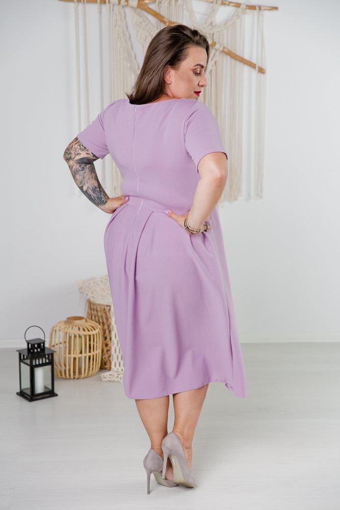 Liliowa Sukienka FALON Plus Size