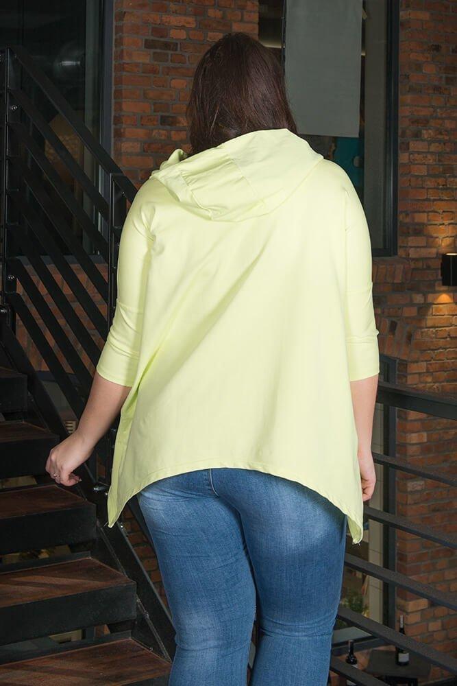 Limonkowa Tunika damska VOGA Plus Size