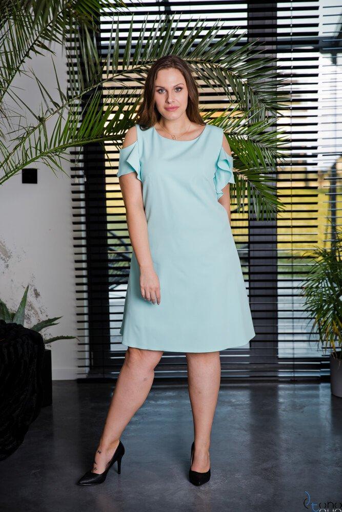 Miętowa Sukienka BARBIE Plus Size