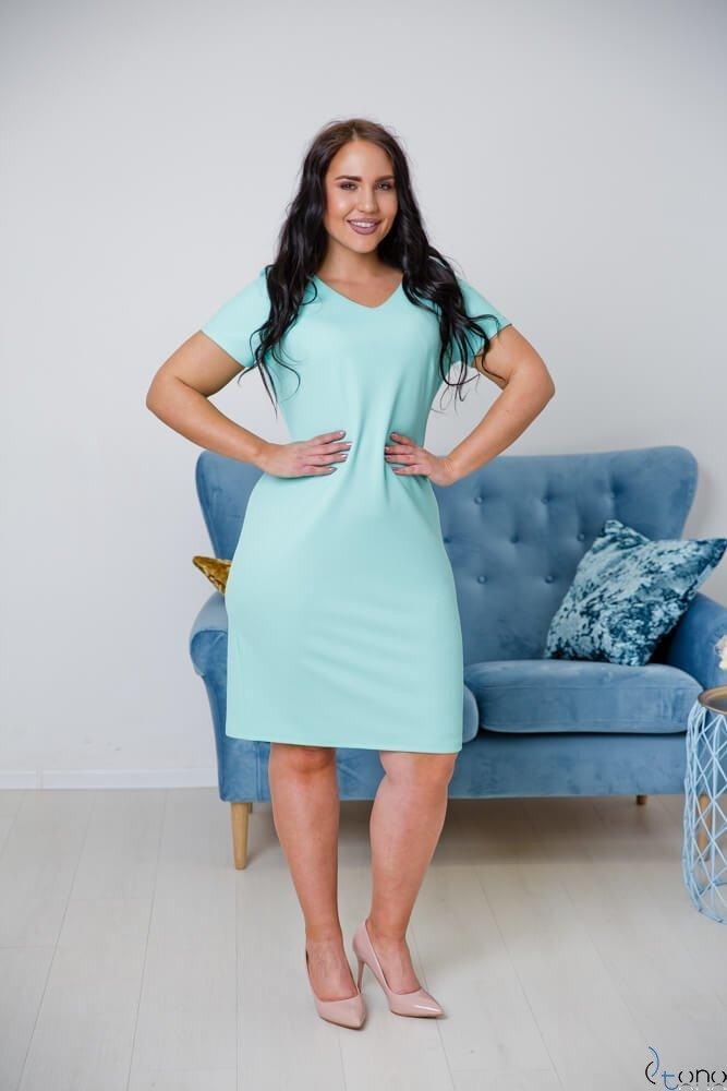 Miętowa Sukienka CARISMA Plus Size