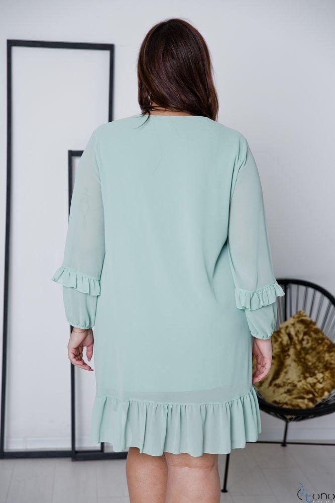 Miętowa Sukienka CORTLAND Plus Size