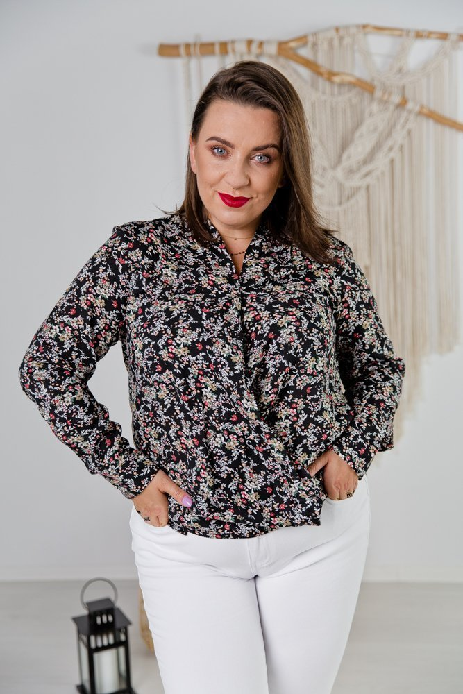 Multikolorowa Koszula U20 Wzór 2 Plus Size