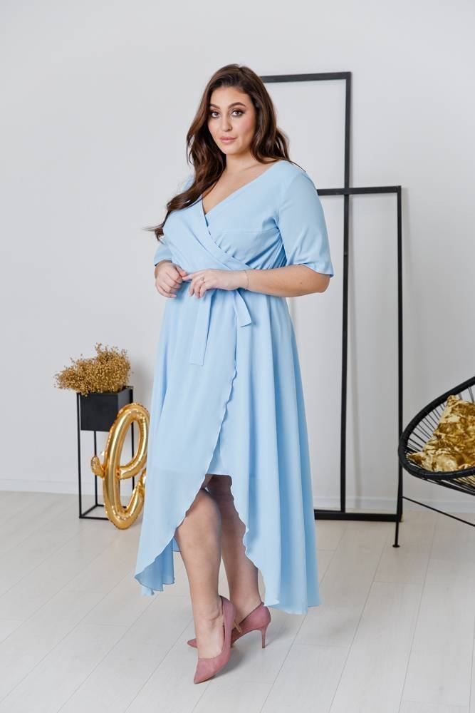 Niebieska Sukienka NADY Plus Size
