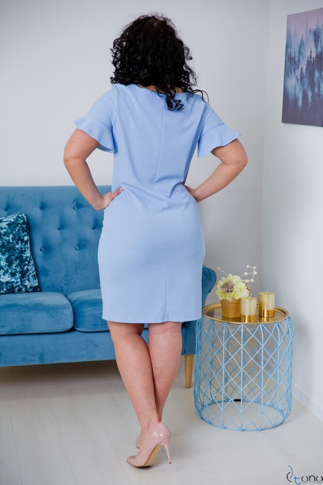 Niebieska Sukienka VELMA Plus Size