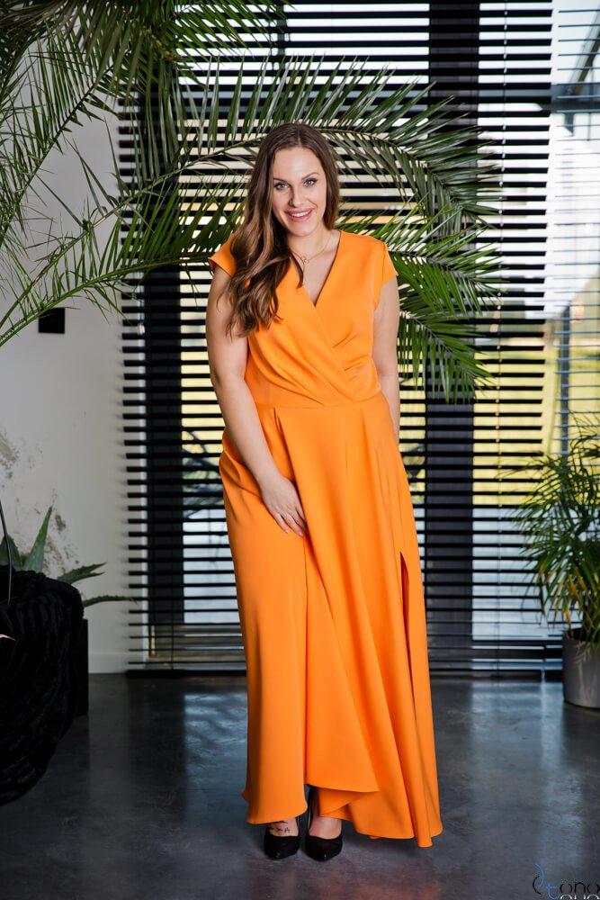 Pomarańczowa Sukienka LOREDANA Plus Size