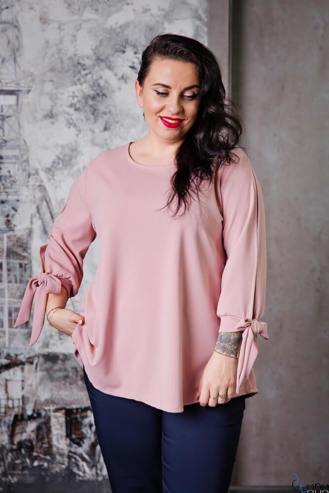 Pudrowo-Różowa Bluzka BATLES Plus Size