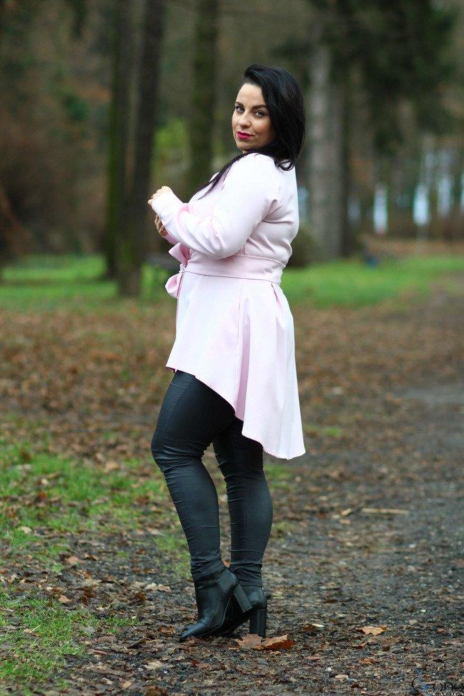 Różowa Koszula damska LANICA Plus Size