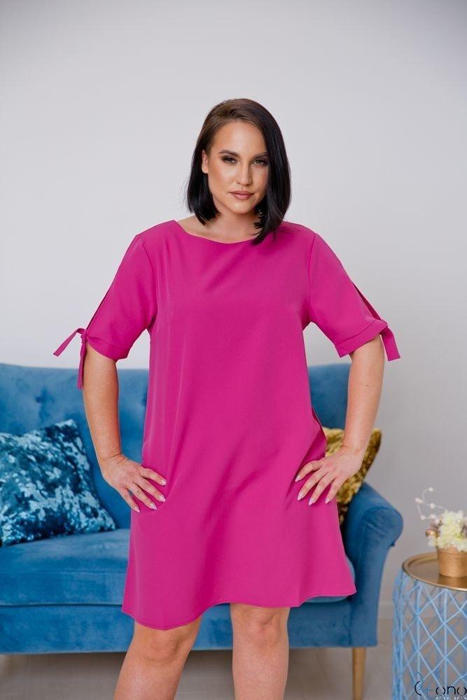 Różowa Sukienka SAFANA Plus Size