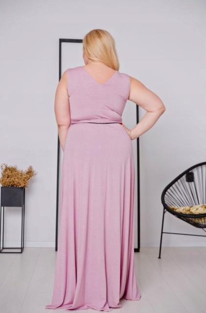 Różowa Sukienka VOYAGE Plus Size