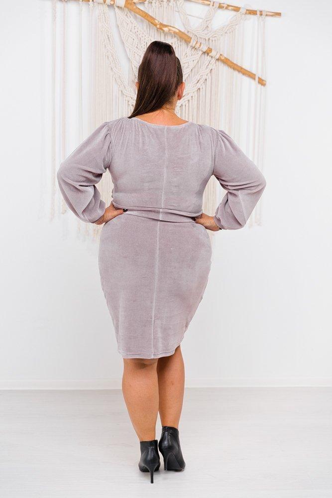 Różowa Sukienka WELURIS Plus Size