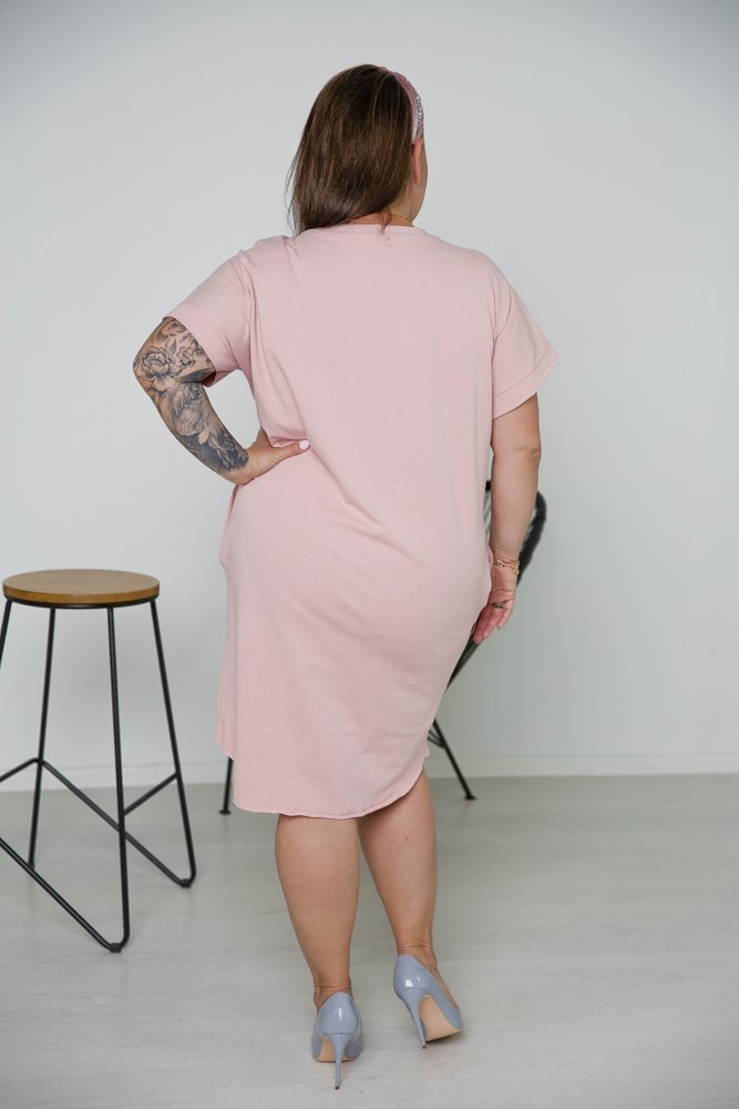 Różowa Tunika MOMS LIFE CÓRKA Plus Size