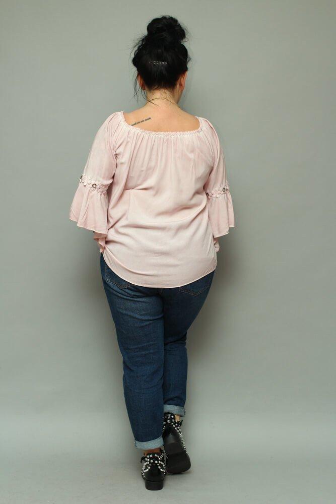 Różowa bluzka damska CANTELLA Oversize Plus Size