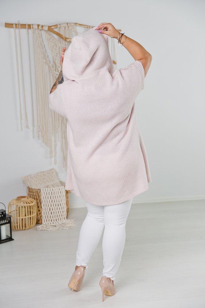 Różowy Kardigan PARLA Plus Size