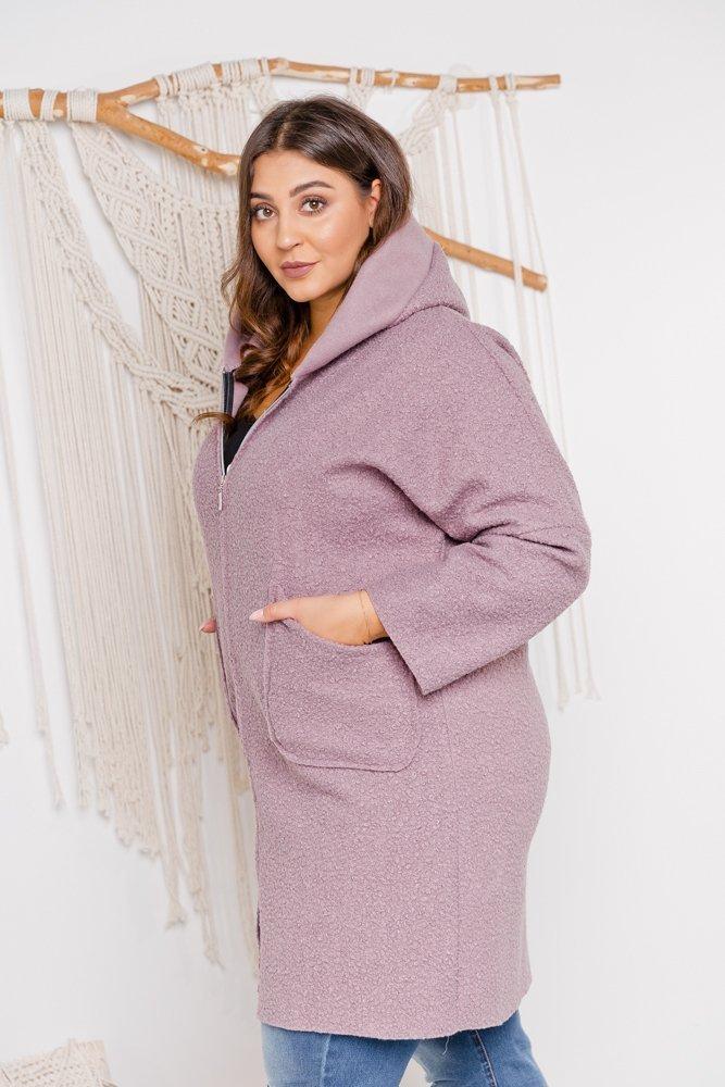 Różowy płaszcz BERTIS Plus Size