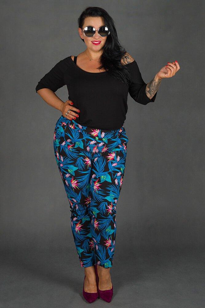 Spodnie AZURO Plus Size wzór 3