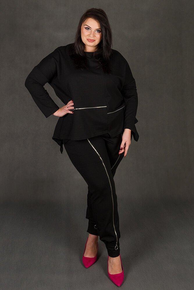 Spodnie RUSTY Dresowe Designerskie Plus Size