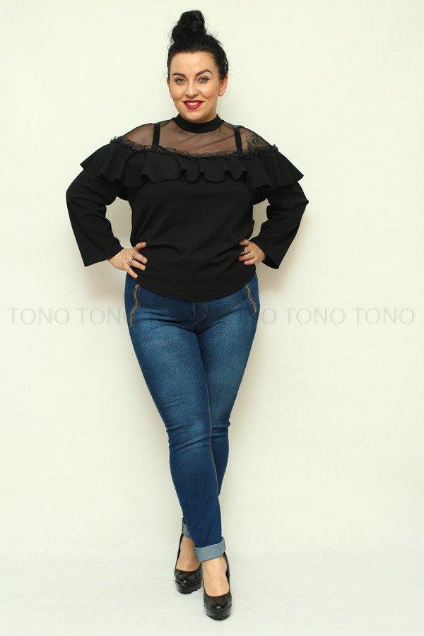 Spodnie damskie jeansowe ZIPPER elastyczne Zamki