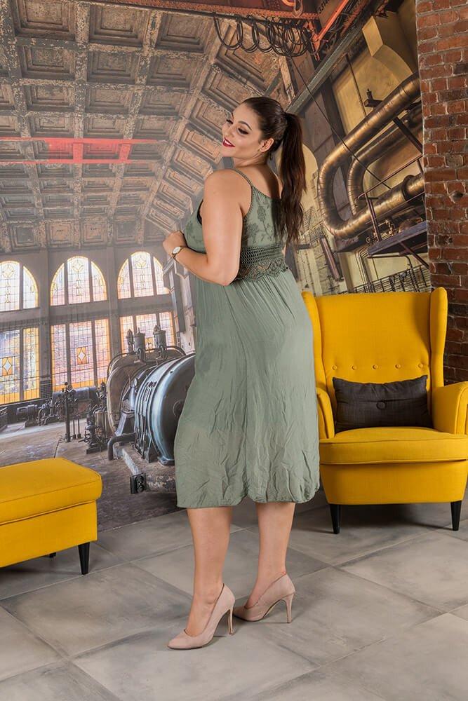 Sukienka CAGLIARI Maxi Plus Size Khaki
