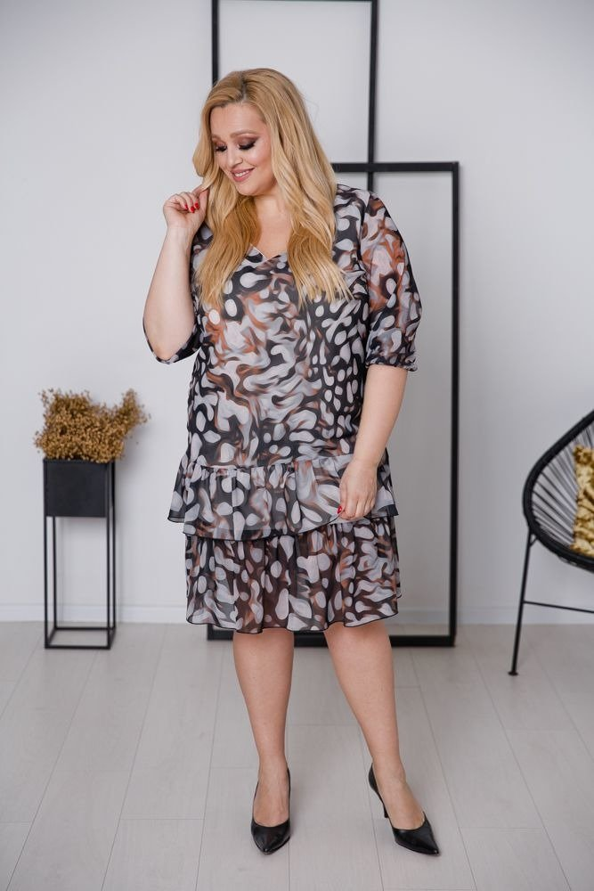 Sukienka FAUNA Plus Size Wzór 2