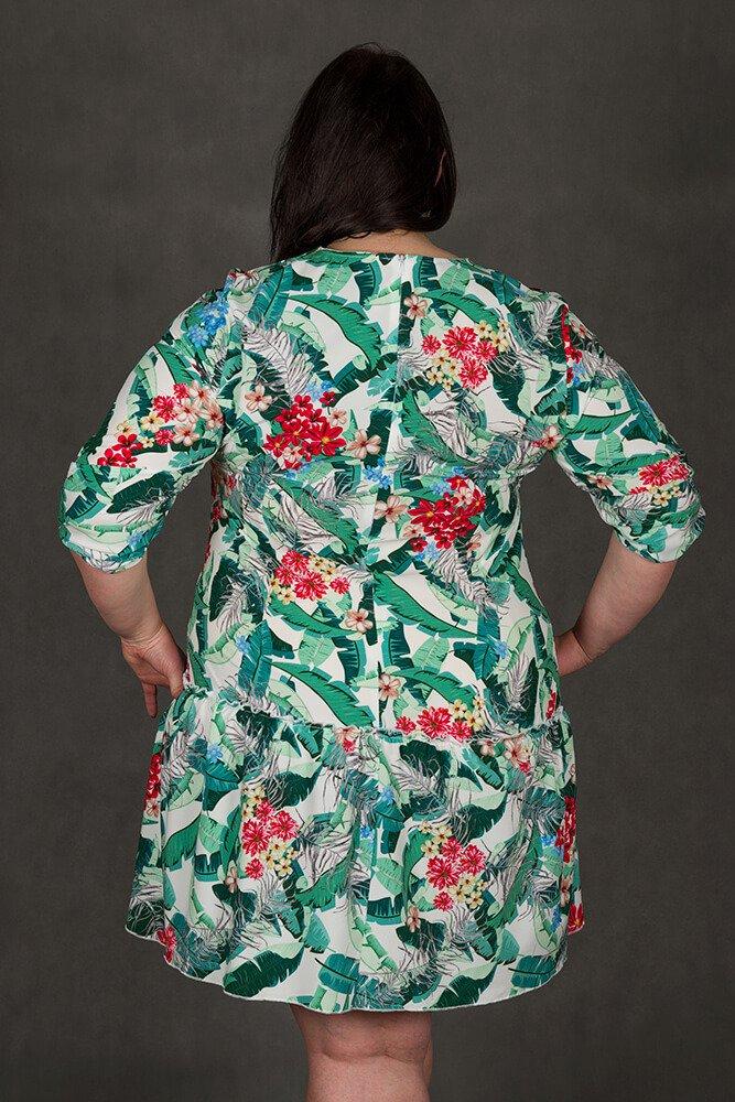 Sukienka GARDEN Plus Size Falbanka