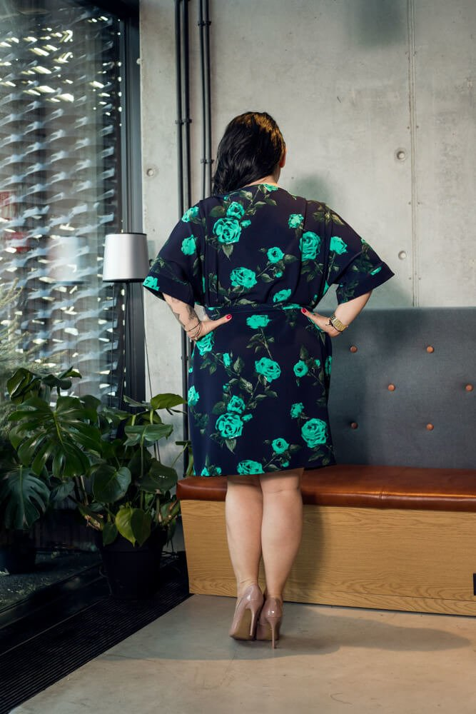 Sukienka NADOLA Hiszpanka Plus Size wzór 2