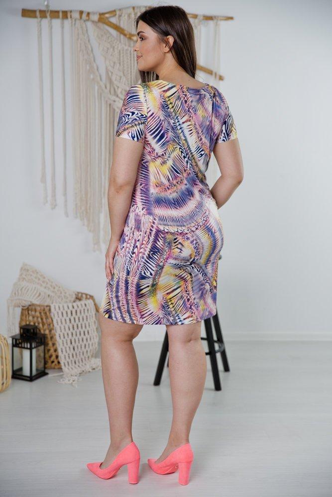 Sukienka STAMPINA Plus Size Wzór 38