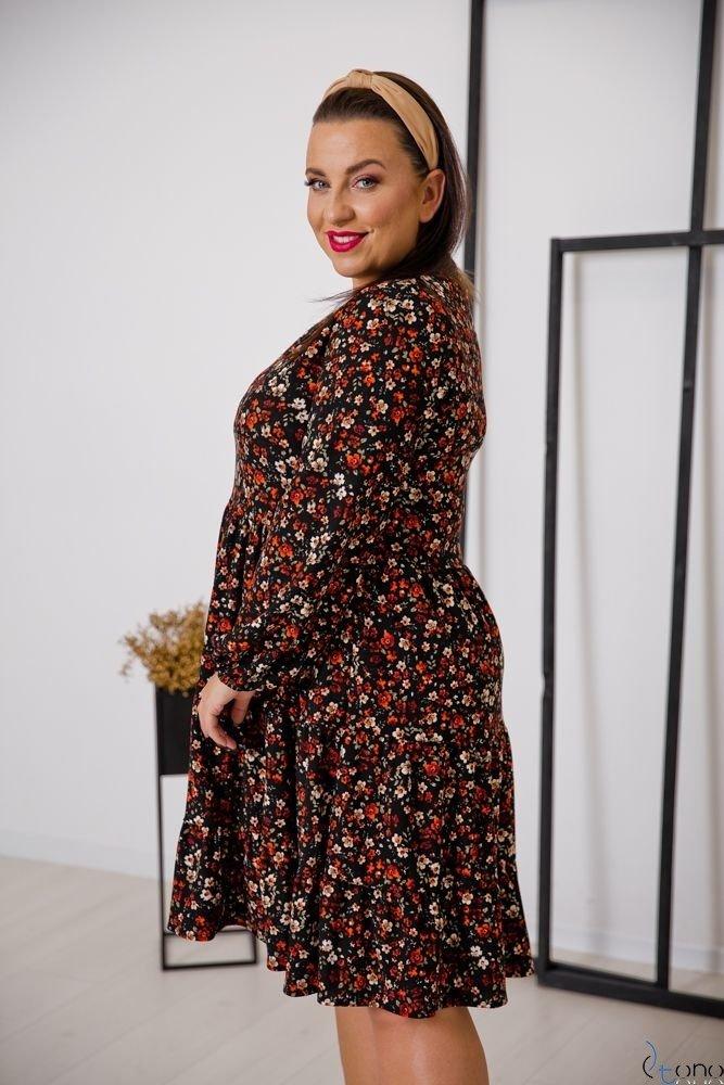 Sukienka TIFANY Plus Size Kwiaty Wzór 2
