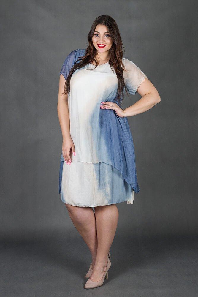 Sukienka TOUR Jedwab Plus Size