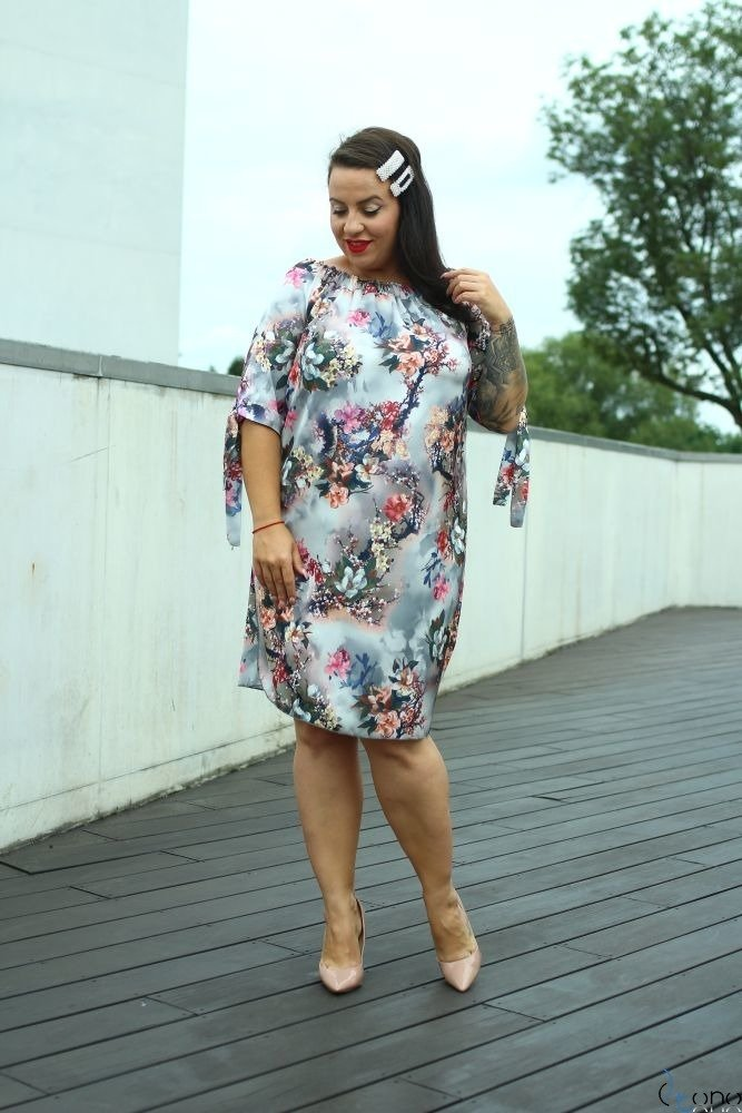 Sukienka VALENCIA Hiszpanka Plus Size Wzór 1