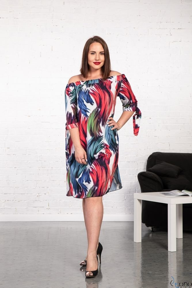 Sukienka VALENCIA Hiszpanka Plus Size Wzór 3