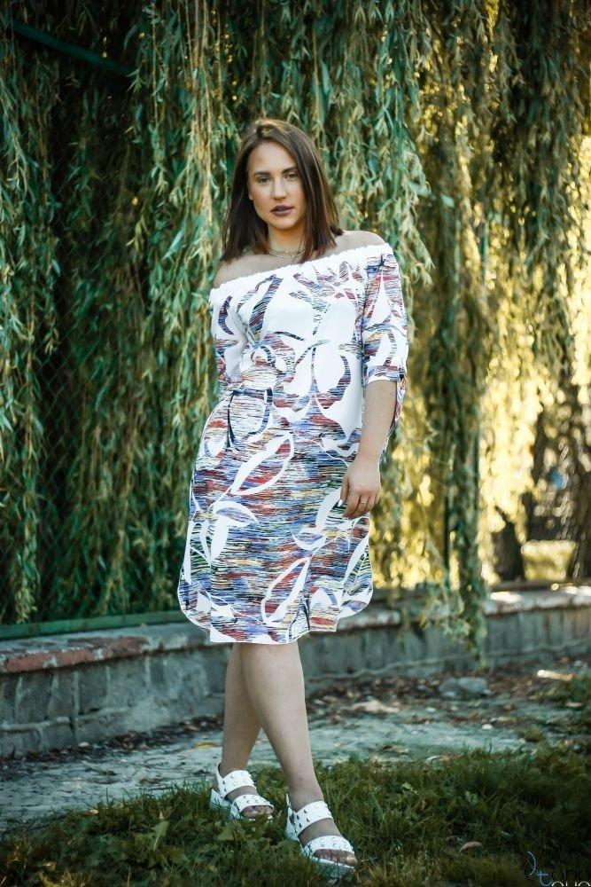 Sukienka VALENCIA Hiszpanka Plus Size Wzór 6