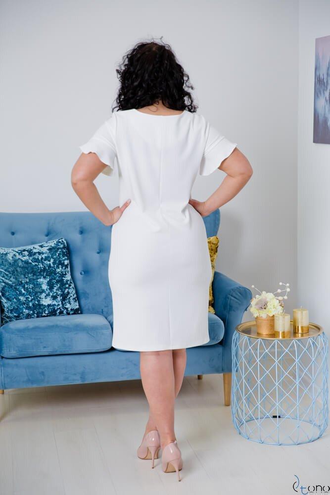 Sukienka VELMA Ecru Plus Size
