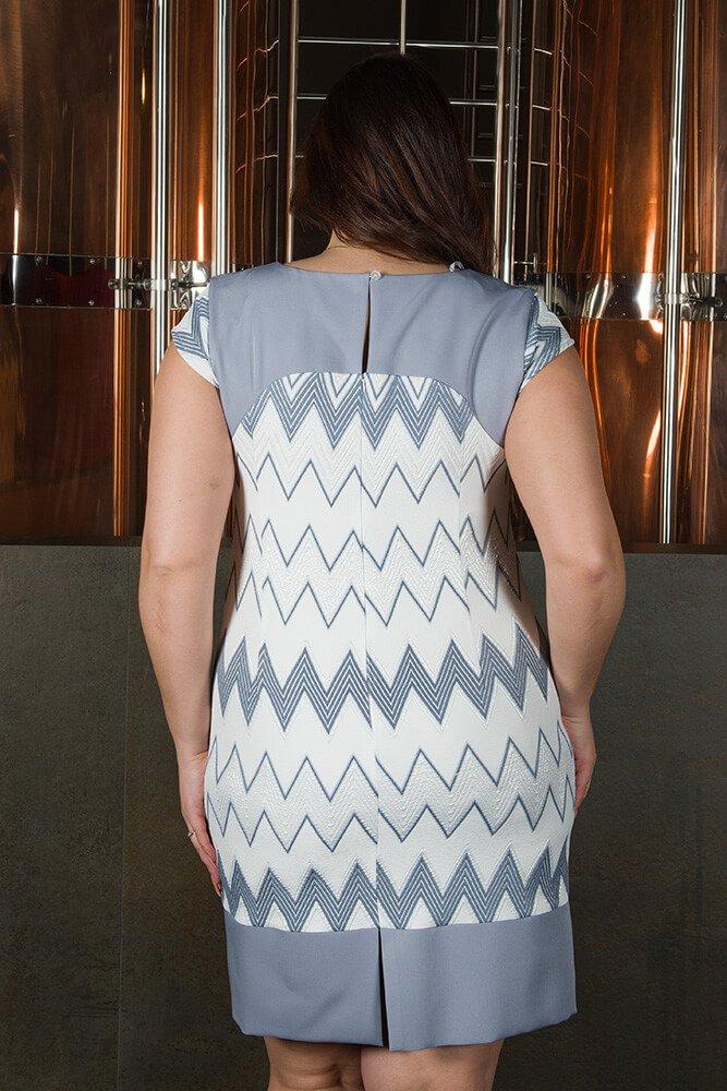 Sukienka Wizytowa LATIKA Plus Size zygzaki wzór 4