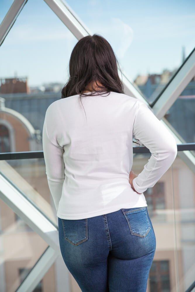 Biała Bluzka BETTY Klasyczna Plus Size