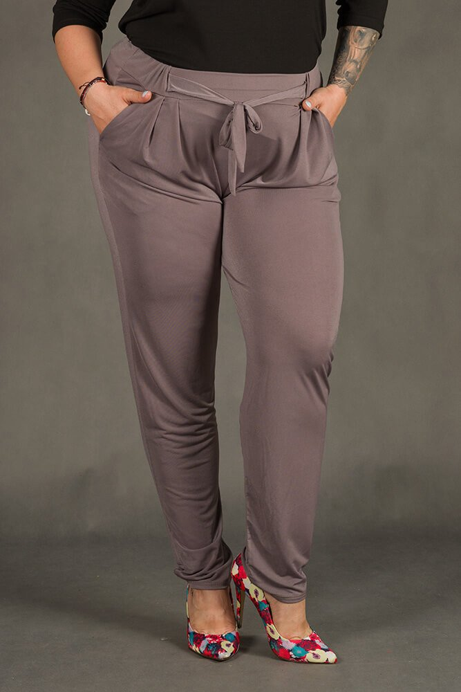 Szara Spodnie SPOKEY Zwiewne Plus Size