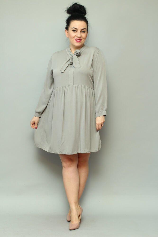 Szara Sukienka ANCONA