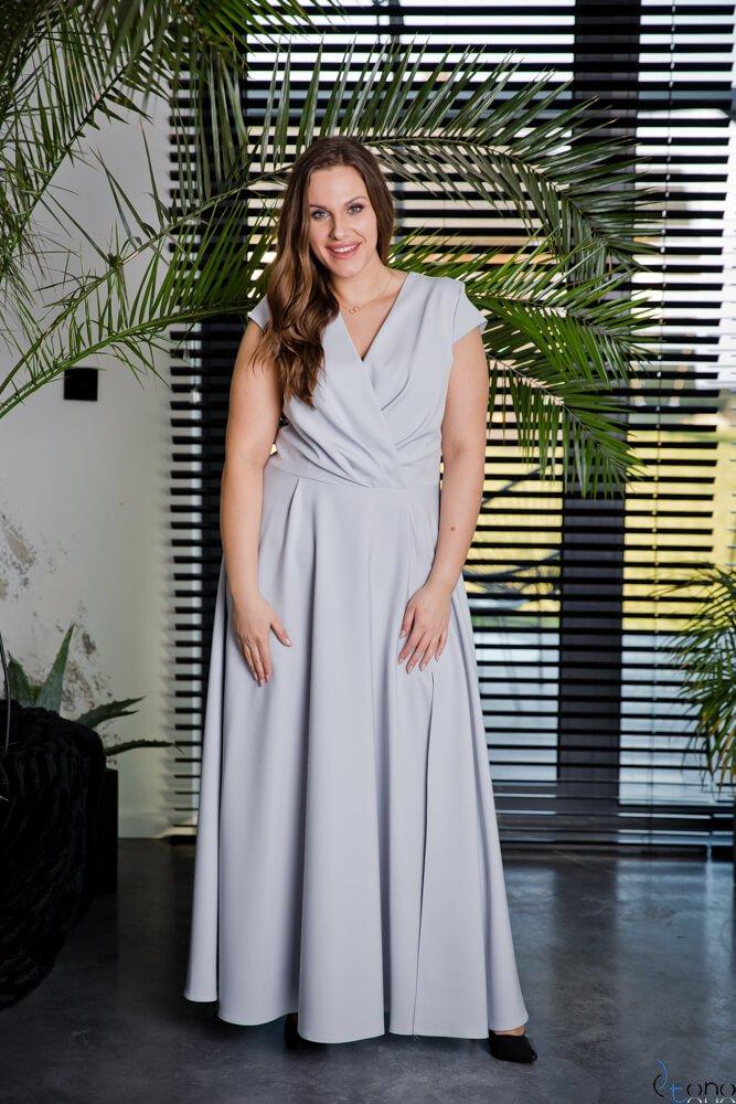 Szara Sukienka LOREDANA Plus Size