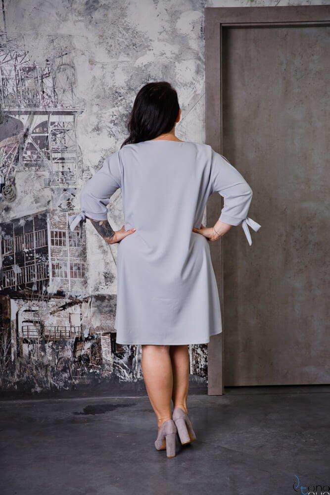 Szara Sukienka MERCY Plus Size