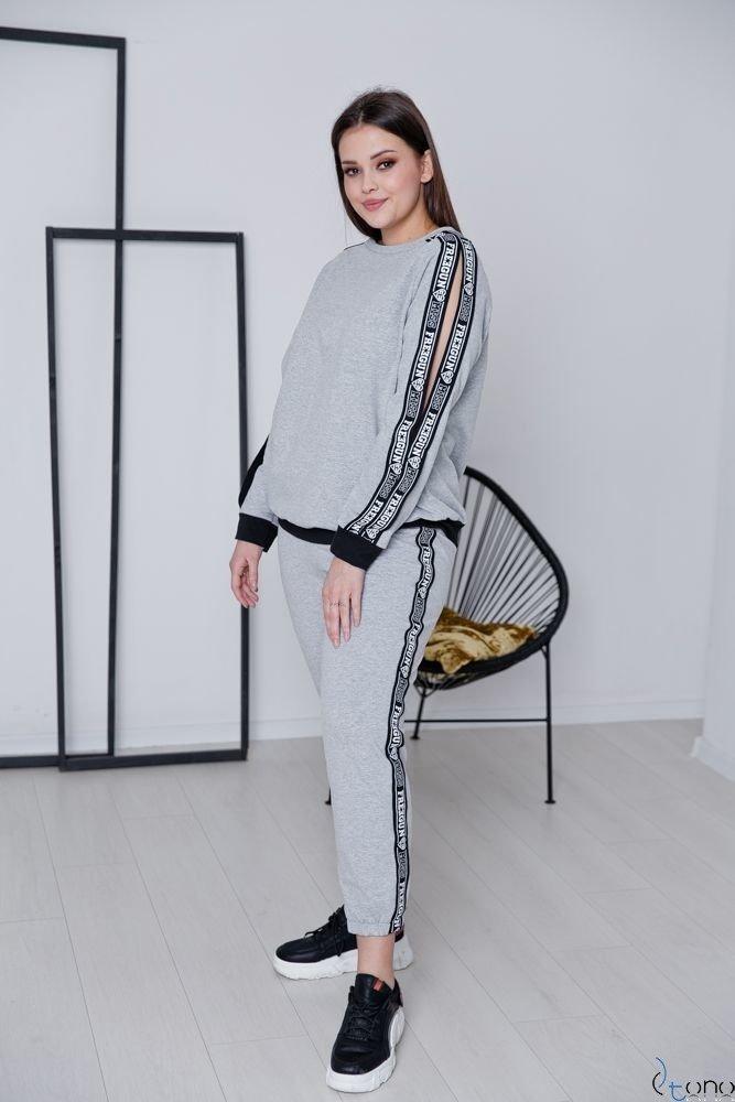 Szary Dres FRESH Plus Size
