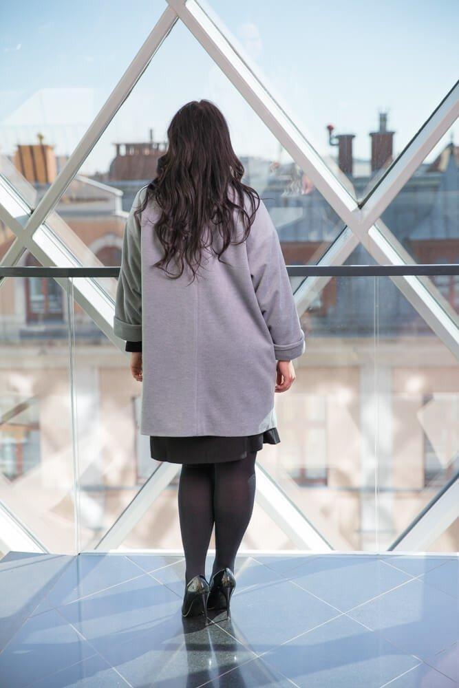 Szary Płaszcz BURGES Plus Size