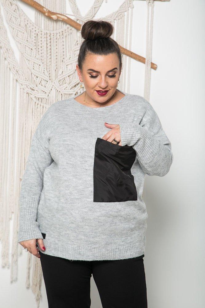 Szary Sweter TASCO Plus Size