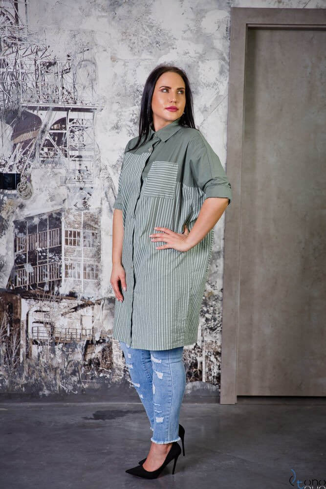 Tunika TOMBA Khaki Plus Size