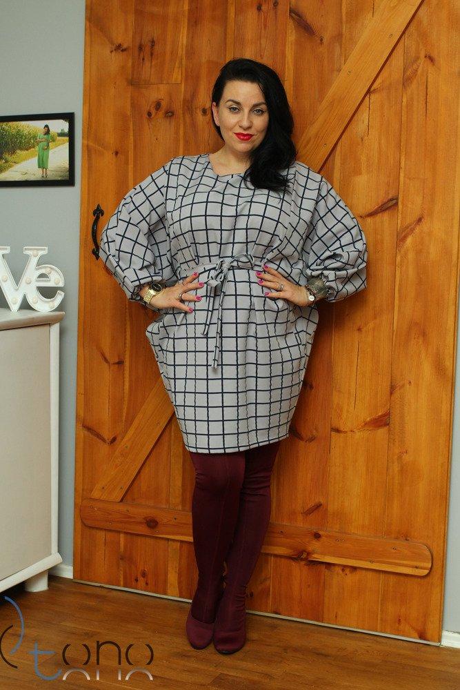 Tunika damska TORRID Kimono Krata Plus Size