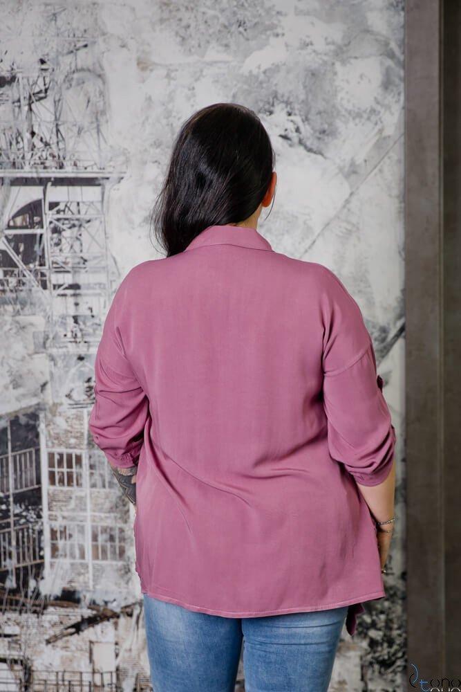 Wrzosowa Koszula VAREGA Plus Size