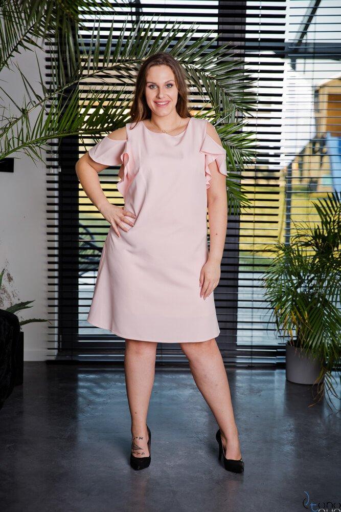Różowa Sukienka BARBIE Plus Size