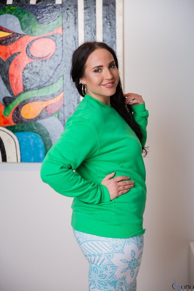 Zielona Bluza BUGGIE Plus Size