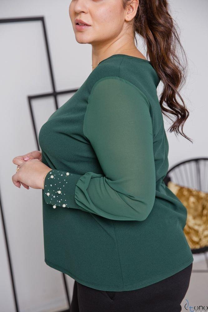 Zielona Bluzka DEFENEY Plus Size