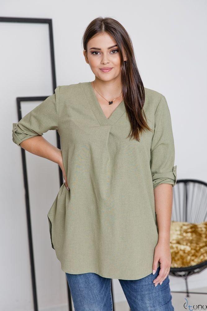 Zielona Bluzka JUSTIN Plus Size
