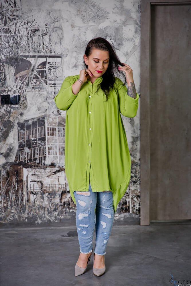 Zielona Koszula LUNGA Plus Size